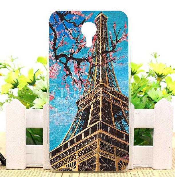 Чехол силиконовый бампер для Meizu M2 Note с рисунком Эйфелева башня