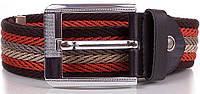 Оригинальный мужской текстильный ремень 3,7 см. Y.S.K. (УАЙ ЭС КЕЙ) SHI-T-6, разноцветный