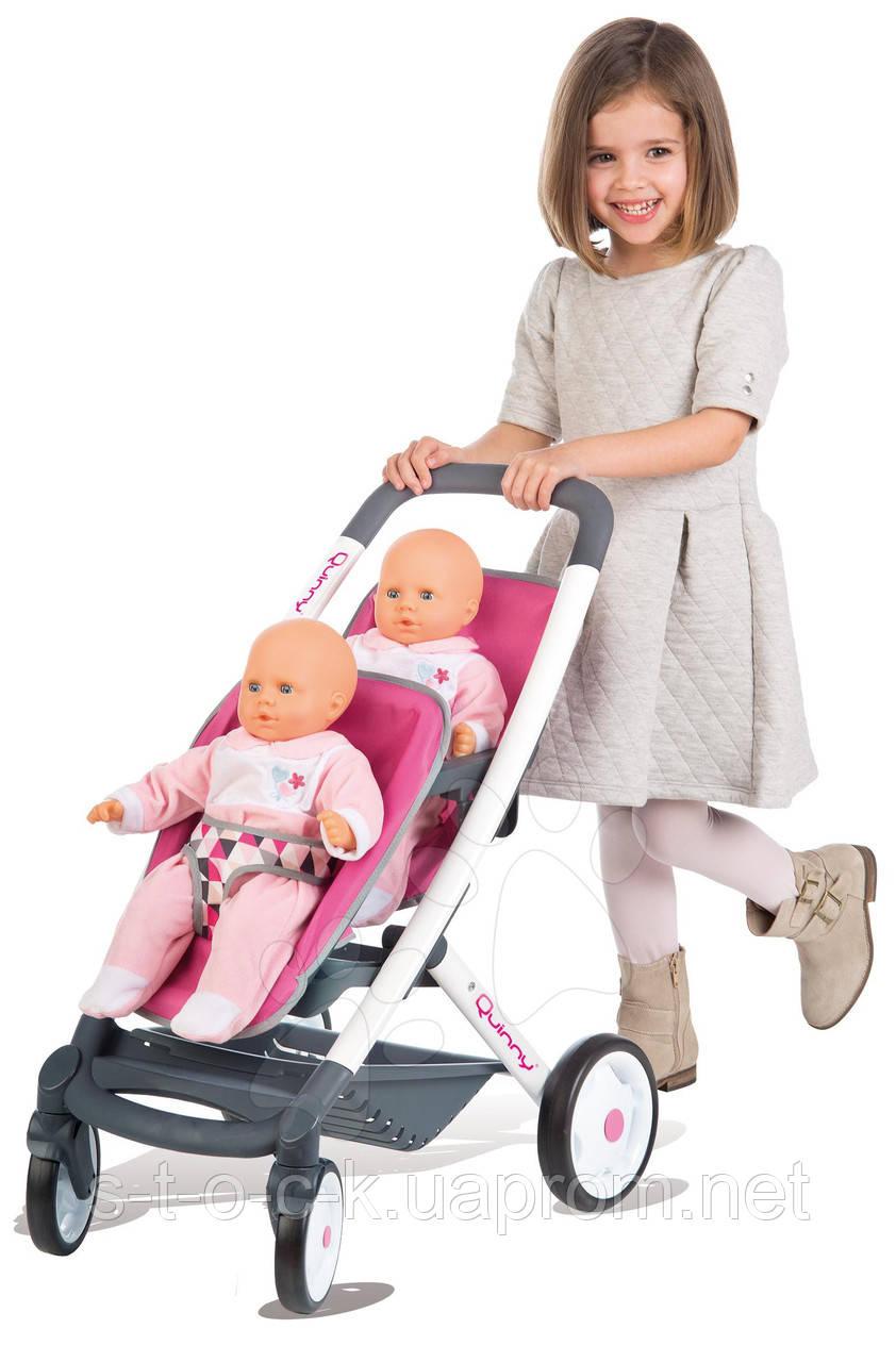 Детская игровая коляска для кукол близняшек Smoby 25329 «Maxi-Cosi&Quinny»