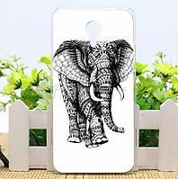 Чехол силиконовый бампер для Meizu M2 Note с рисунком Слон, фото 1