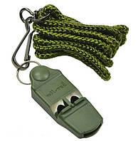 Свисток на шейном шнурке без шарика (Olive)