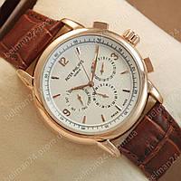Мужские наручные часы Patek Philippe Geneve Gold/White
