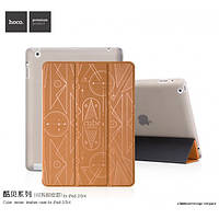 Чехол Hoco Cube series для iPad 2/3/4 коричневый