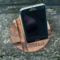 Подставка для смартфона Круг дерево