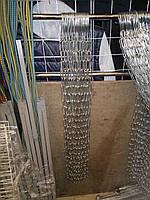 Цепь прочная торговая металлическая для одежды ф 4 мм