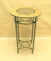 Стол С-06 БОЛЬШОЙ (металл, стекло, дерево)