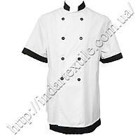 Китель (куртка) повара белый , габардиновый, фото 1