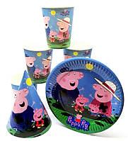 Набор праздничной посуды Свинка Пеппа Семья на 1 персону