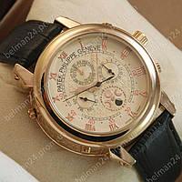 Мужские наручные часы Patek Philippe Sky Moon Black/Gold/Milk