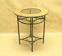 Стол дерево СД-06 Малый (металл, стекло, дерево)