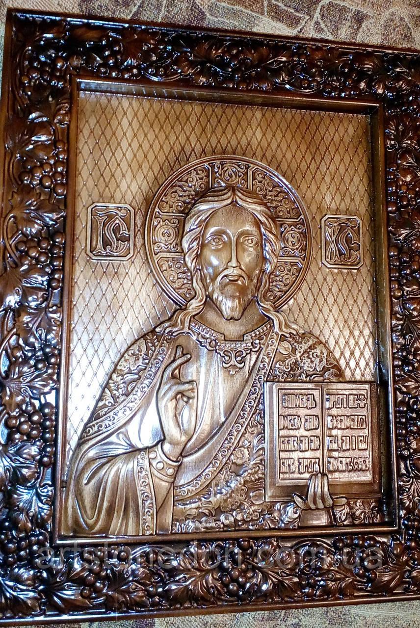 Икона резная Спасителя Иисуса Христа