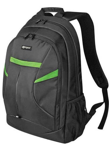 """Модный черный рюкзак для города с отделением для ноутбука 16"""" X-Digital 6277213, 15 л."""
