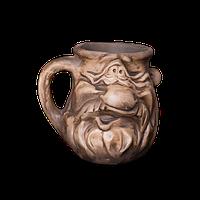 Кружка глиняная Мордочка №8 IA0824 Покутская керамика