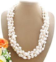 Ожерелье из Натурального ЖЕМЧУГА и Хрустальных бусин