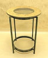 Стол дерево СД-07 (металл, стекло, дерево)