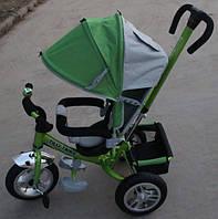Велосипед трехколесный TILLY Trike T-361 ЗЕЛЕНЫЙ на большом надувном колесе