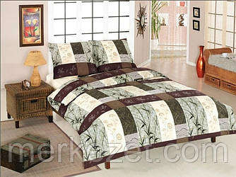 """Постельное белье на полуторную кровать. Постельное бязь. """"Бамбук в квадрате"""""""