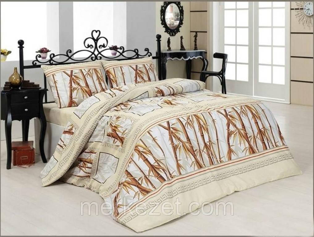"""Постельное на полуторную кровать. Постельное белье бязь. """"Бамбуки"""""""