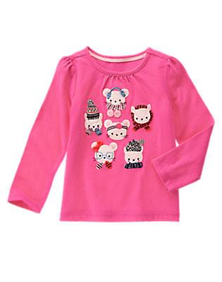 Реглан темно-розовый на девочку 3, 4, 5 лет Gymboree (США)