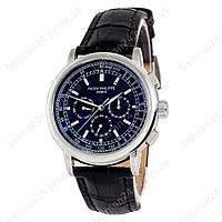 Мужские наручные часы Patek Philippe Geneve 0002 Black/Silver/Black