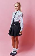 Школьная юбка с бантиком черная