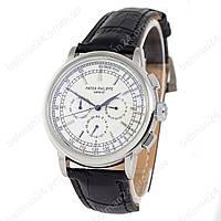 Мужские наручные часы Patek Philippe Geneve 0002 Black/Silver/White