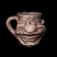 Кружка глиняная Мордочка №6 IA0624 Покутская керамика