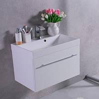 Мебель подвесная для ванной Буль-Буль 70 см Corsica ШН-700 с раковиной Signe белая