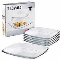 """Набор тарелок квадратных 265 мм """"Токио 54087"""" 6 шт."""