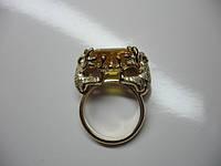 """Золотое кольцо с цитрином """"Лягушки"""""""