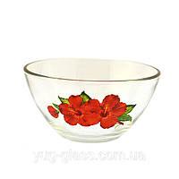 Салатник гладкий фрукты, цветы