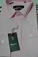 Мужская молодежная приталенная рубашка
