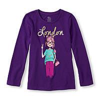 Реглан фиолетовый London для девочки 4-5-6 лет The Children's Place (США)