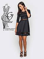 Красивое модное платье клеш-юбка с рукавом 3/4 Рада