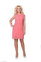 Красивое женско платье кораллового цвета