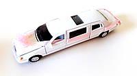Машинка для молодожёнов, белая (подарки)