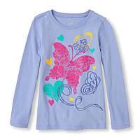 Реглан Butterflies на девочку 5-6-7-8 лет The Children's Place (США)