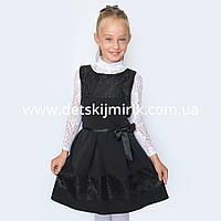 """Нарядный сарафан - платье с гипюром для девочки """"Мечта"""", в школу, на торжество."""