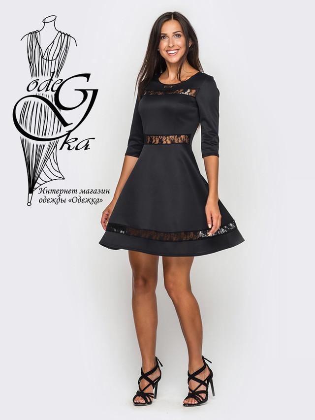Подобные товары-3 Красивого модного платья клеш-юбки с рукавом 3/4 Рада-2