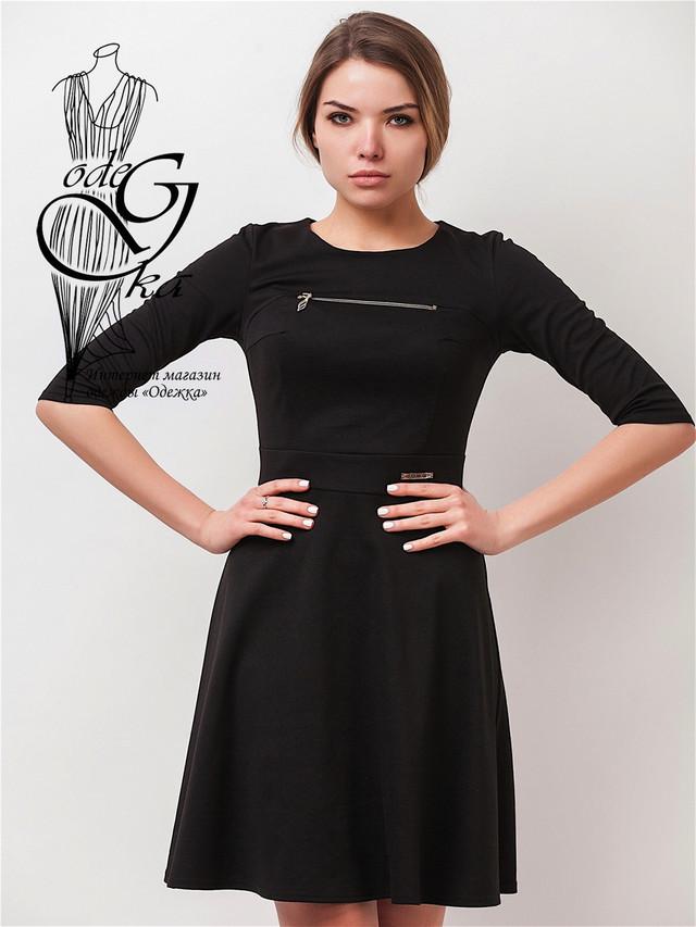Подобные товары-6 Красивого модного платья клеш-юбки с рукавом 3/4 Рада-2