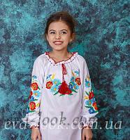 Яркая вышиванка детская для девочки