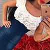 Комбинированное платье с джинсом и шифоном, фото 2
