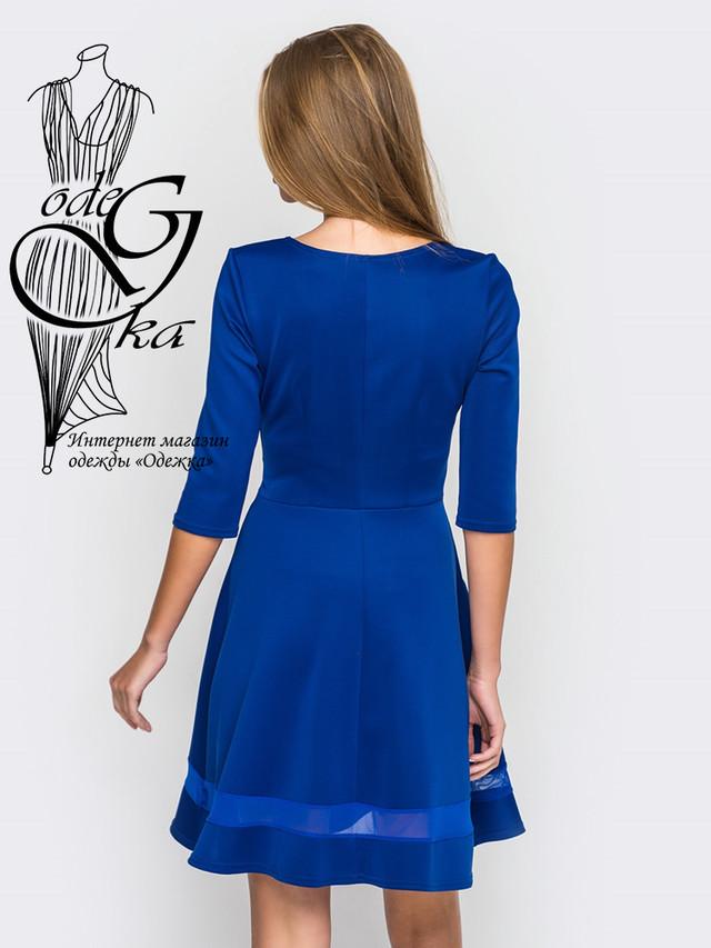 Фото-1 Красивого модного платья клеш-юбки с рукавом 3/4 Рада-2