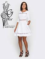 Красивое модное платье клеш-юбка с рукавом 3/4 Рада-3