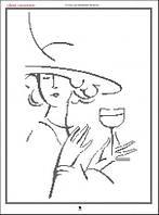 Дама с бокалом. Картина для вышивки бисером