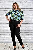 Женская шифоновая блуза больших размеров 0312-2  до 74 размера