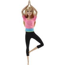 Кукла Барби йога розовый топ Barbie Made To Move Doll- Pink Top