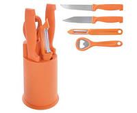 Ножи кухонные с подставкой Lucky ,набор ножей