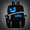 Рюкзак детский Pokemon Go светится в темноте