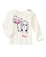 Реглан белый на девочку 4 года Hearts Umbrella Gymboree (США)